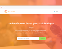 confff - Find conferences for designers & developers