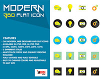 Modern 360 Flat Icons Free Download