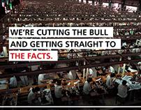 Cut the bull - website & campaign