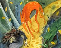Fagot man and his fox