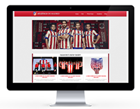 Atlético de Madrid Webdesign