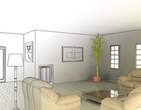VMP Interior Design in REVIT with Photoshop
