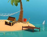 Tropical Island, June Calendar Wallpaper