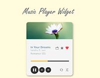 Music Player Widget Free vector