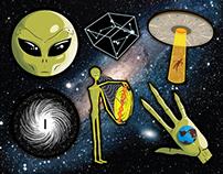 Ufo/Aliens Sticker Pack