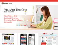 Sina Media Kit Web Design