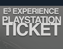 Playstation E3 Experience Ticket Mockup