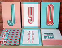 DINER - espécimen tipográfico