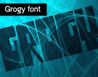 Grogy free font