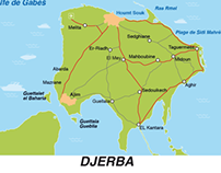 Djerba vector Map