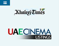 UAE Cinema Listings - Khaleej Times - Demo