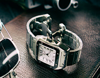 "Cartier ""Watch with Sunglasses and 16mm camera"