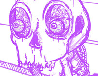 "WORK LIKE HELL ""SKULL"""
