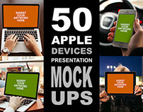 50 Apple Devices MockUps