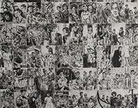 Big Scale Drawing based on old pictures 119cm x 84cm