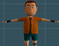 Andy game character for mobile game