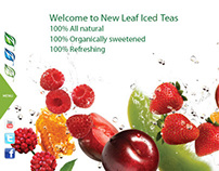 NewLeaf Tea products and interactive branding