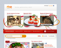 Portal de gastronomía para RTVE