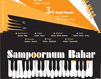 """Sampoornum Bahar"" poster for a classical music event"