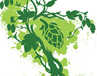Hops and Brew School logo and theme art.