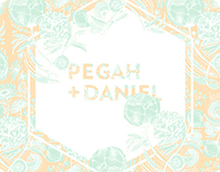 PEGAH+DANIEL WEDDING INVITATION