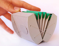 A group of kinetic origami sculptures
