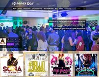 Bar & Restaurant Website Kabanas Bar