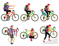 Cyclists and cycling trips