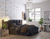 Bedroom - Scandinavian style