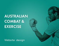 Australian Combat & Exercise - Website design
