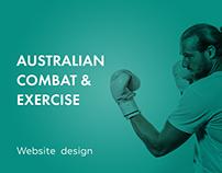 Australian Combat & Exercise - Website design