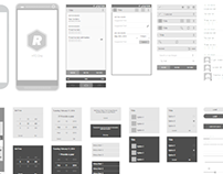 Vector Wireframing Templates