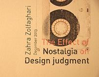 Nostalgia & design Judgment