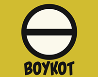 Boykot icon and posters
