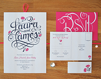 Laura & James' Wedding Invites