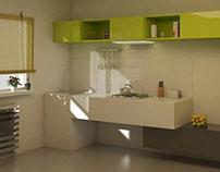 Minimal wave kitchen