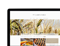The Laden Table - Website and Logo design