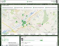 Riple Hub (Location Based Responsive Web App)