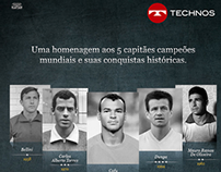 CAPITÃES DA TAÇA - TECHNOS RELÓGIOS