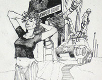 Calamity Jane Etching Series