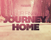 Our Final Journey Home Church Flyer Invite Template