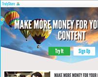 Web Design / UX / Branding - TrulyShare