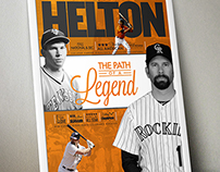 Todd Helton Commemorative Poster