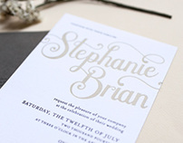 Stephanie + Brian Letterpress Wedding Suite