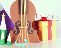 Christmas concert papercraft