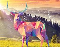 Dramatic Deer