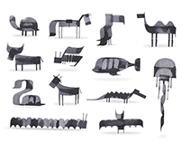 More Calligraphy Animals