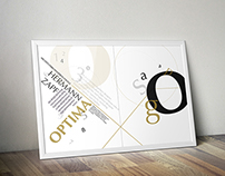 Optima Typeface Poster