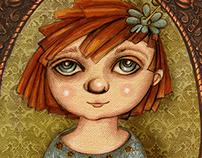 Des portraits sur des affaires de petites filles