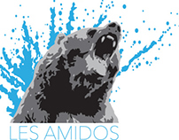 Les Amidos whitewater crew. Promo gear